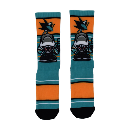 San Jose Sharks Lil Mascot Socks-L/XL