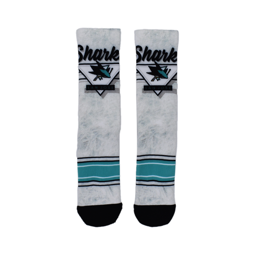 San Jose Sharks Marbled Ice Socks-L/XL