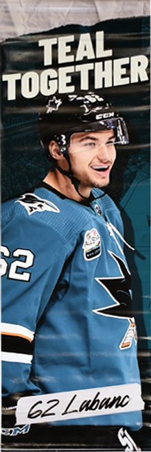 Sharks Teal Together Street Banner - Kevin Labanc