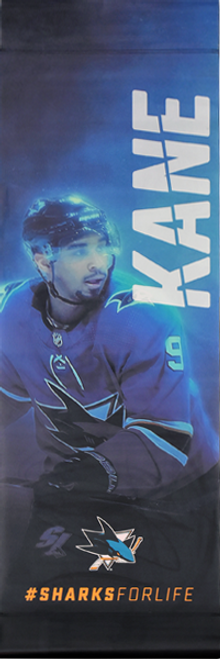 Sharks For Life Street Banner - Evander Kane