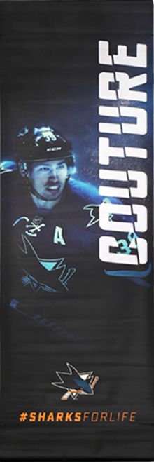 Sharks For Life Street Banner - Logan Couture