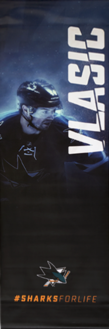 Sharks For Life Street Banner - Marc-Edouard Vlasic