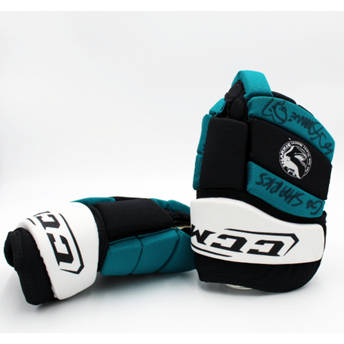 Signed SJ Sharkie New CCM Gloves