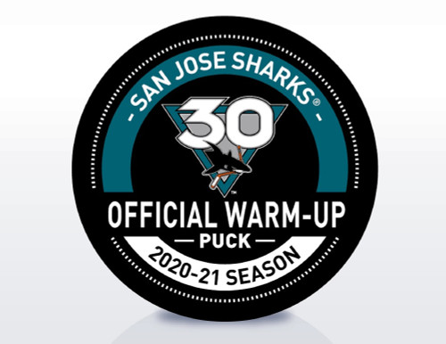 San Jose Sharks 30th Anniversary Warm Up Puck