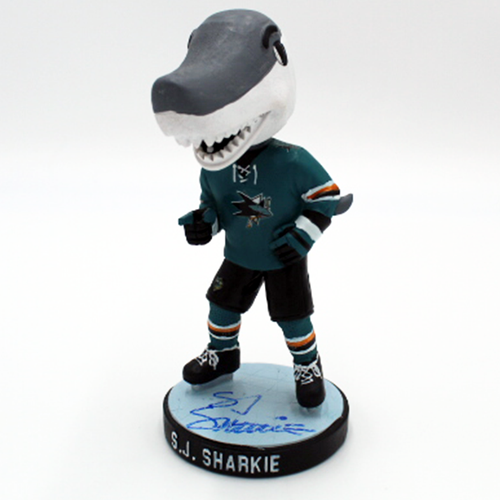 Signed SJ Sharkie Appearance Exclusive Pointing Pose Bobblehead