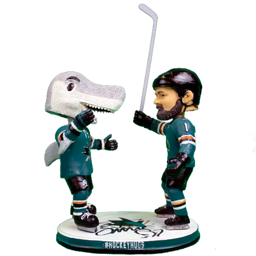 Signed SJ Sharkie Appearance Exclusive #HockeyHugs Double Bobblehead