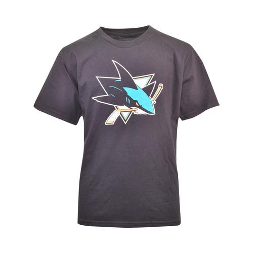 San Jose Sharks Youth Primary Logo Tee-Black