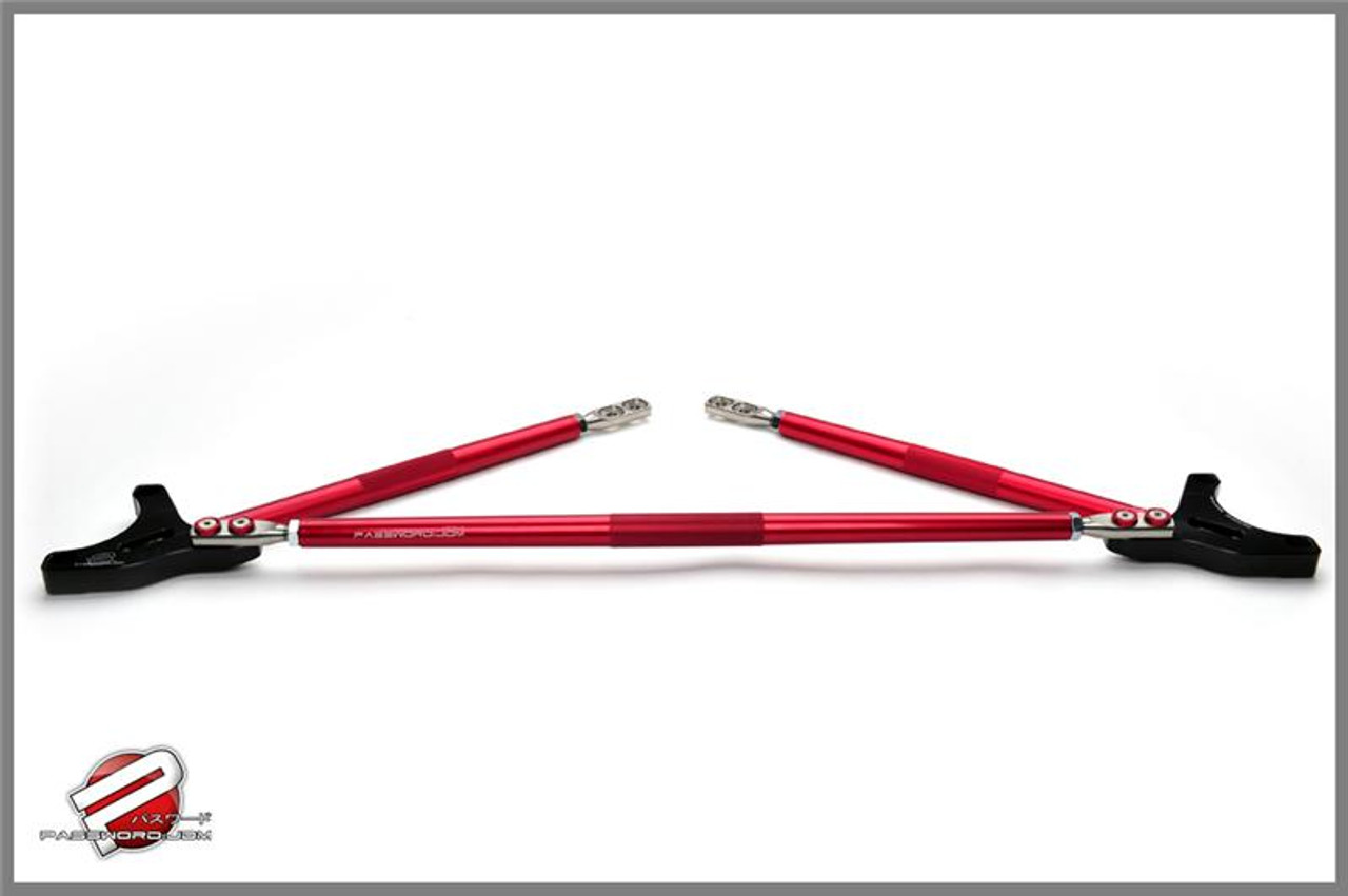 Password JDM Strut Tower Bar Red
