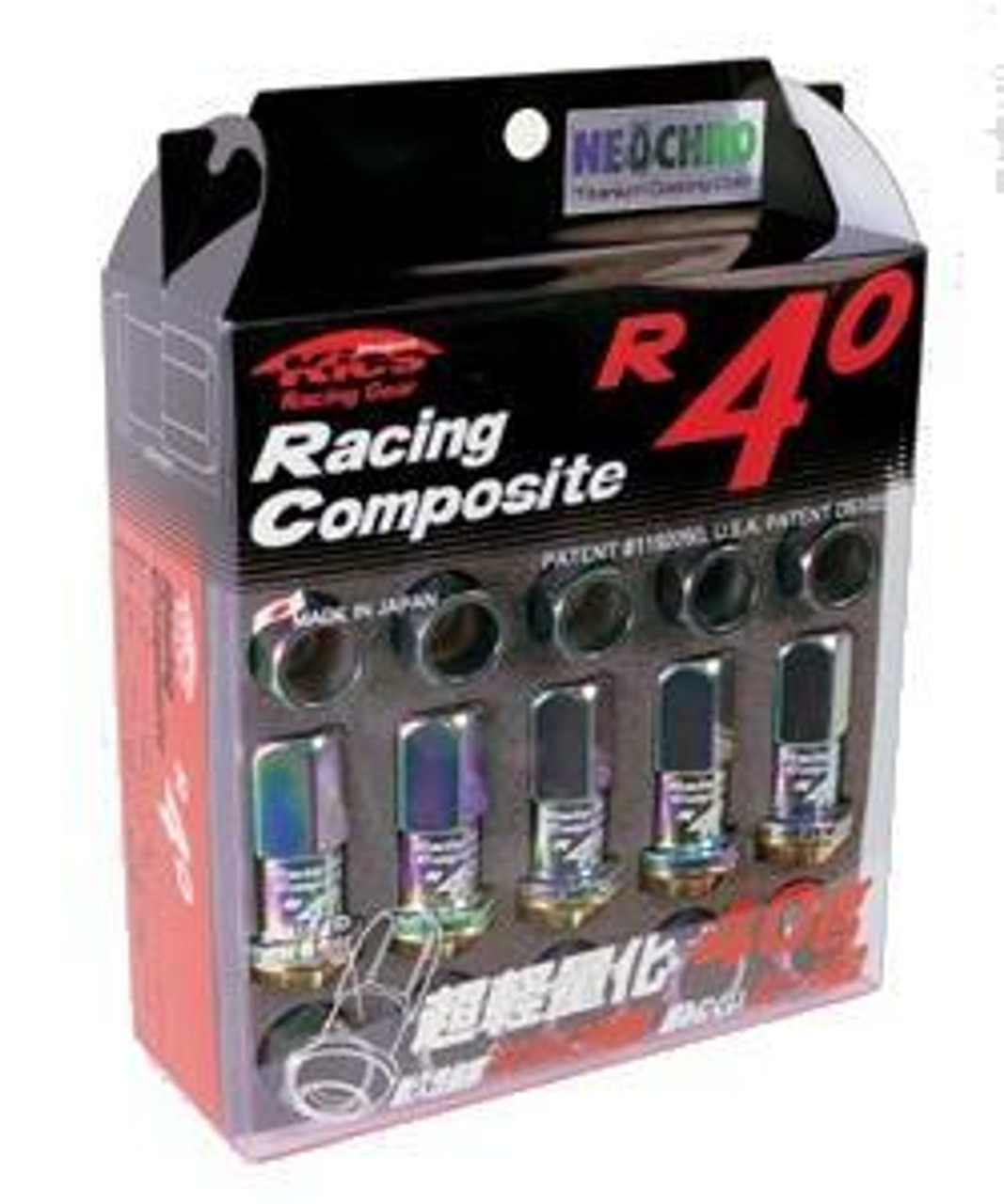 31875N  -Kics Project R40 Lug Nuts  Color: NeoChrome; Size: 12X1.25