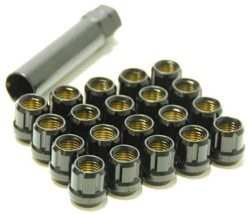 31885B  -Muteki Lug Nuts  Color: Deep Black; Size: 12X1.25