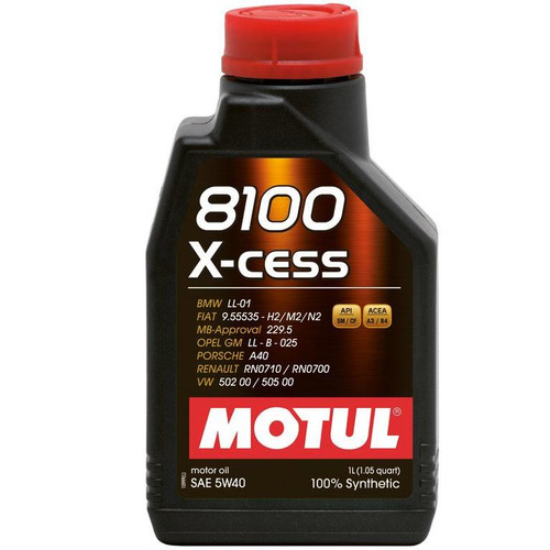 MOTUL 5w30 Motor Oil - 8100 Series CLEAN 1L Bottle (1.05 qt)