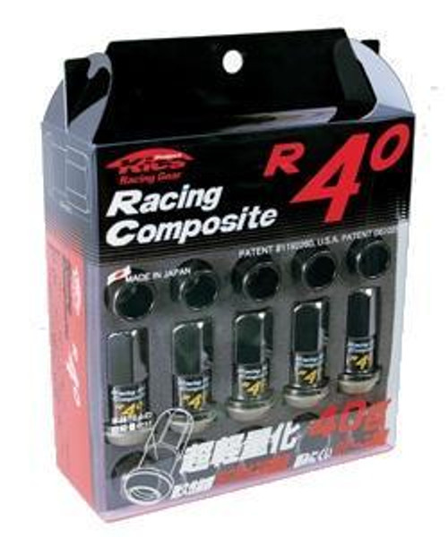 31875  -Kics Project R40 Lug Nuts  Color: Black; Size: 12X1.25