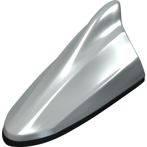 10th Anniversary Scion Release Series Functional Shark Fin Antenna - Silver Ignition