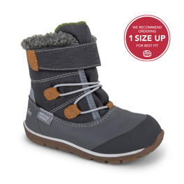 Front-Right Side view of Gilman Waterproof/Insulated Gray Boot