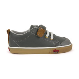 Right Side view of Stevie II Gray Leather Shoe