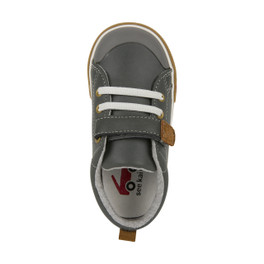 Top-down view of Stevie II Gray Leather Shoe
