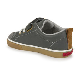 Back-Left Side view of Stevie II Gray Leather Shoe