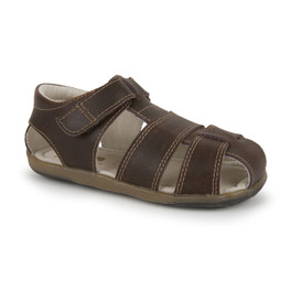 Front-Right Side view of Jude IV Brown sandal