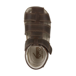Top-down view of Jude IV Brown sandal