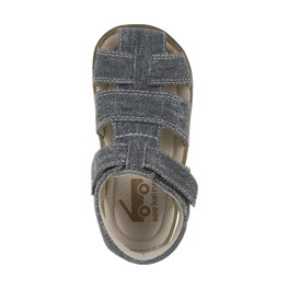 Top-down view of Jude IV Gray Canvas sandal