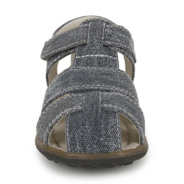 Front view of Jude IV Gray Canvas sandal
