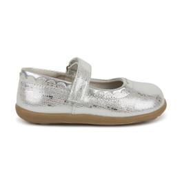 Right Side view of Jane II Silver shoe