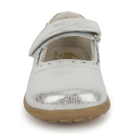 Front view of Jane II Silver shoe