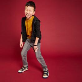 Child wearing Matty Camo shoes