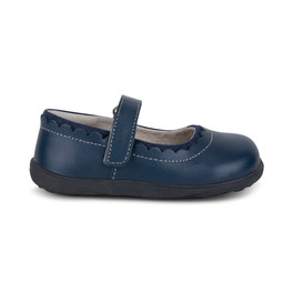 Right Side view of Jane II Navy Shoe