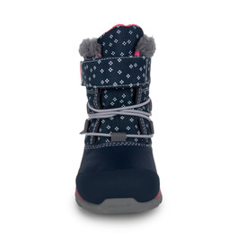Front view of Gilman Waterproof/Insulated Navy Pink boot