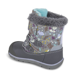 Back-Left Side view of Gilman Waterproof/Insulated Gray Woodland boot