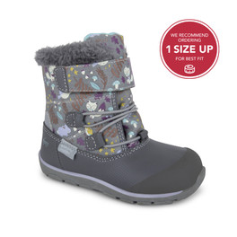 Front-Right Side view of Gilman Waterproof/Insulated Gray Woodland boot