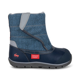 Right Side view of Baker Waterproof/Insulated Blue boot