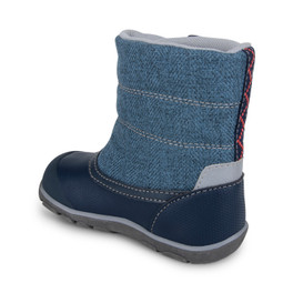 Back-Left Side view of Baker Waterproof/Insulated Blue boot