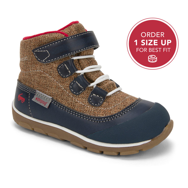 Front-Right Side view of Sam II Waterproof Blue Boot