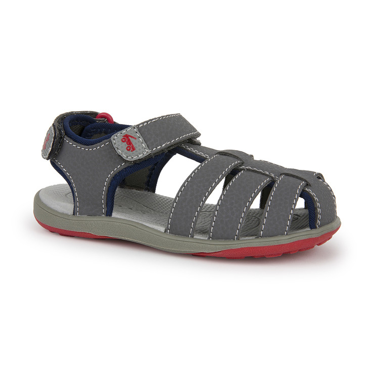 Front-Right Side view of Cyrus III Gray sandal