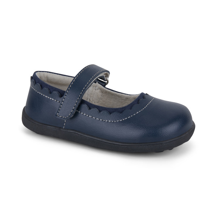 Front-Right Side view of Jane II Navy Shoe