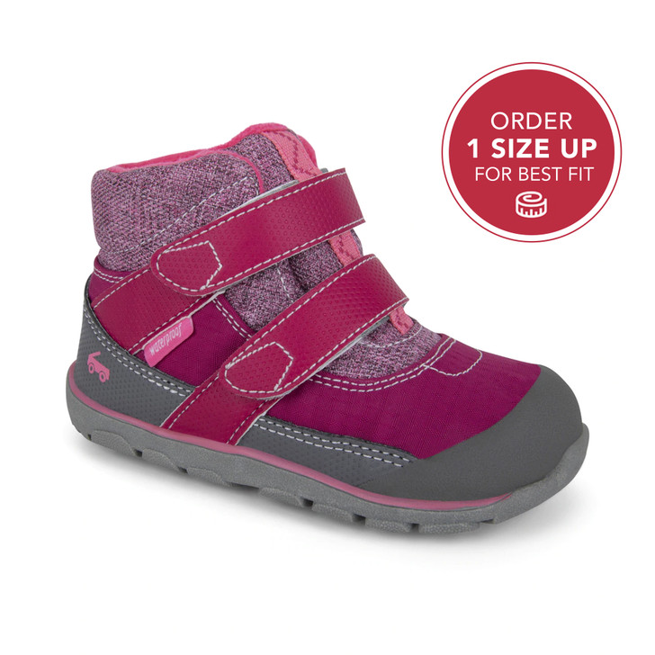 Front-Right Side view of Atlas II Waterproof Berry Boot