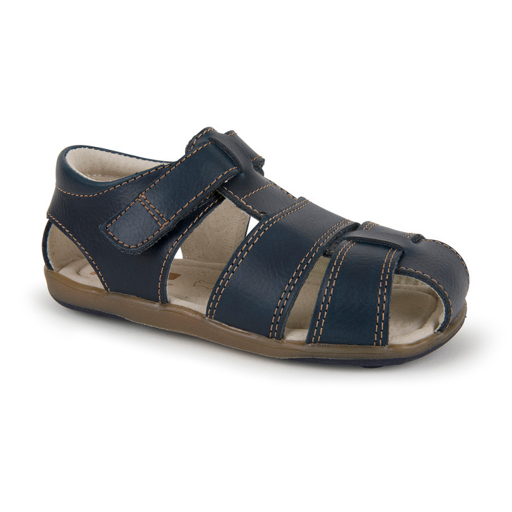 Front-Right Side view of Jude IV Navy sandal