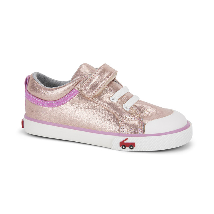 Front-Right Side view of Kristin Rose Shimmer shoe