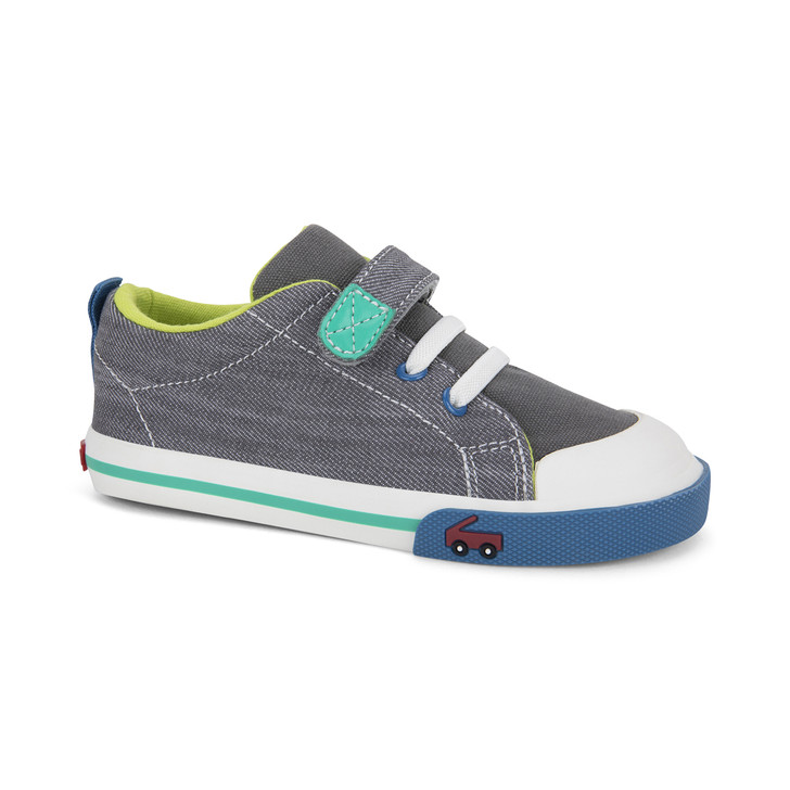 Front-Right Side view of Stevie Gray Denim shoe