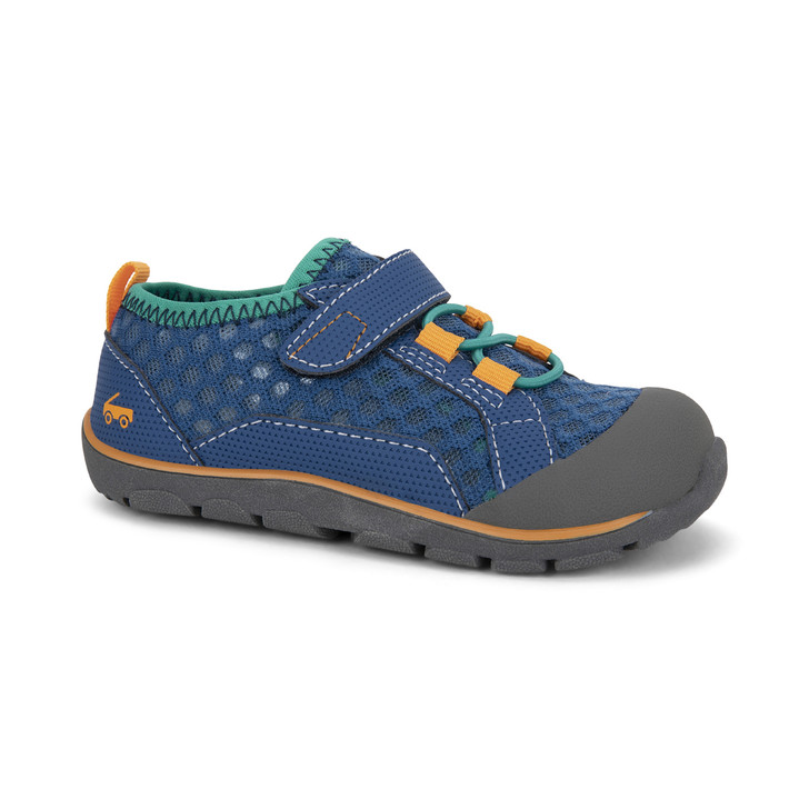 Front-Right Side view of the Anker Navy/Teal shoe