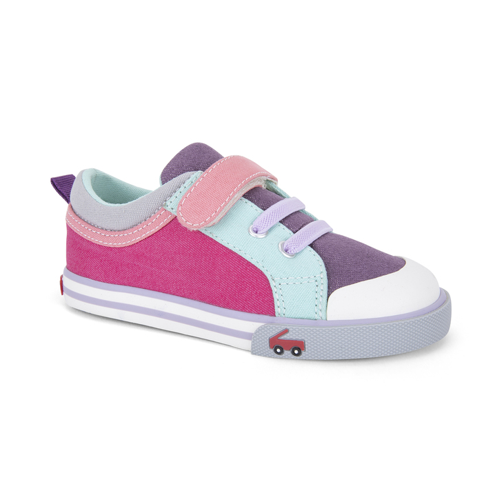 Front-Right Side view of the Kristin Purple/Berry shoe