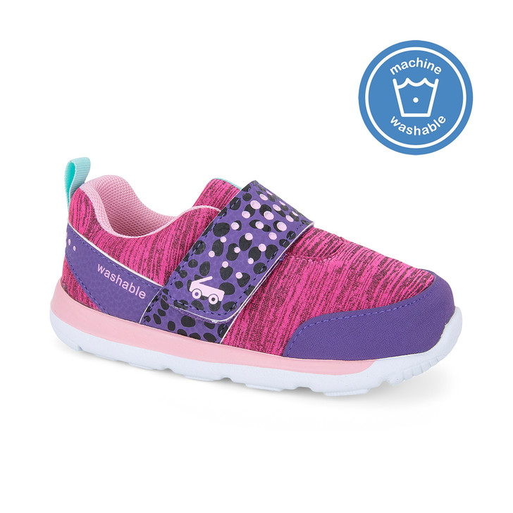 Front-Right Side view of the Ryder Purple/Hot Pink shoe
