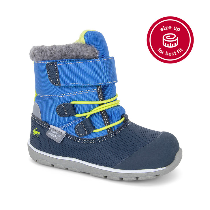 Front-Right Side view of Gilman Waterproof/Insulated Navy/Blue Boot