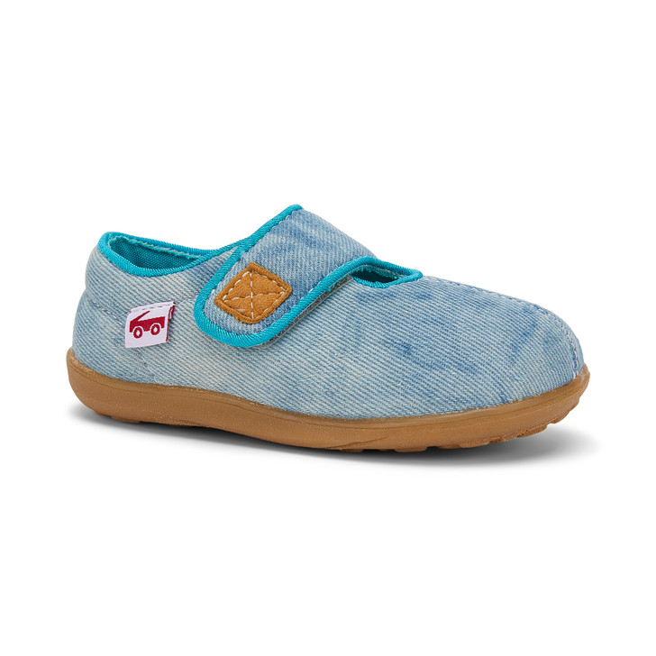 Front-Right Side view of Cruz II Blue Denim slipper