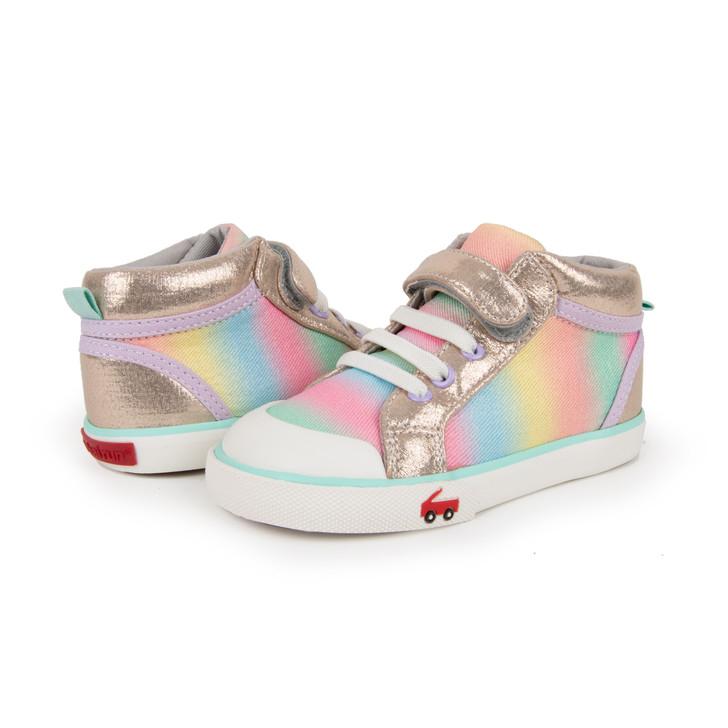 Peyton Gold Rainbow shoe pair