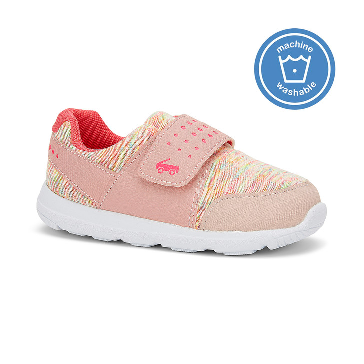 Front-Right Side view of the Ryder FlexiRun Pink Pink shoe