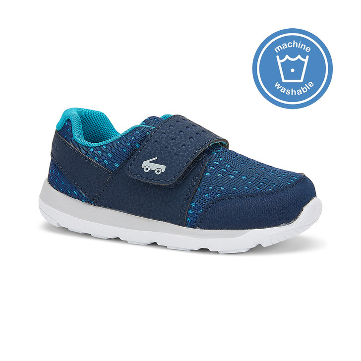 Front-Right Side view of the Ryder FlexiRun Navy shoe