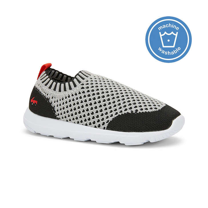 Front-Right Side view of the Ryder Knit FlexiRun Gray shoe